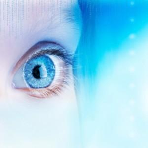 Futuristic eye concept.